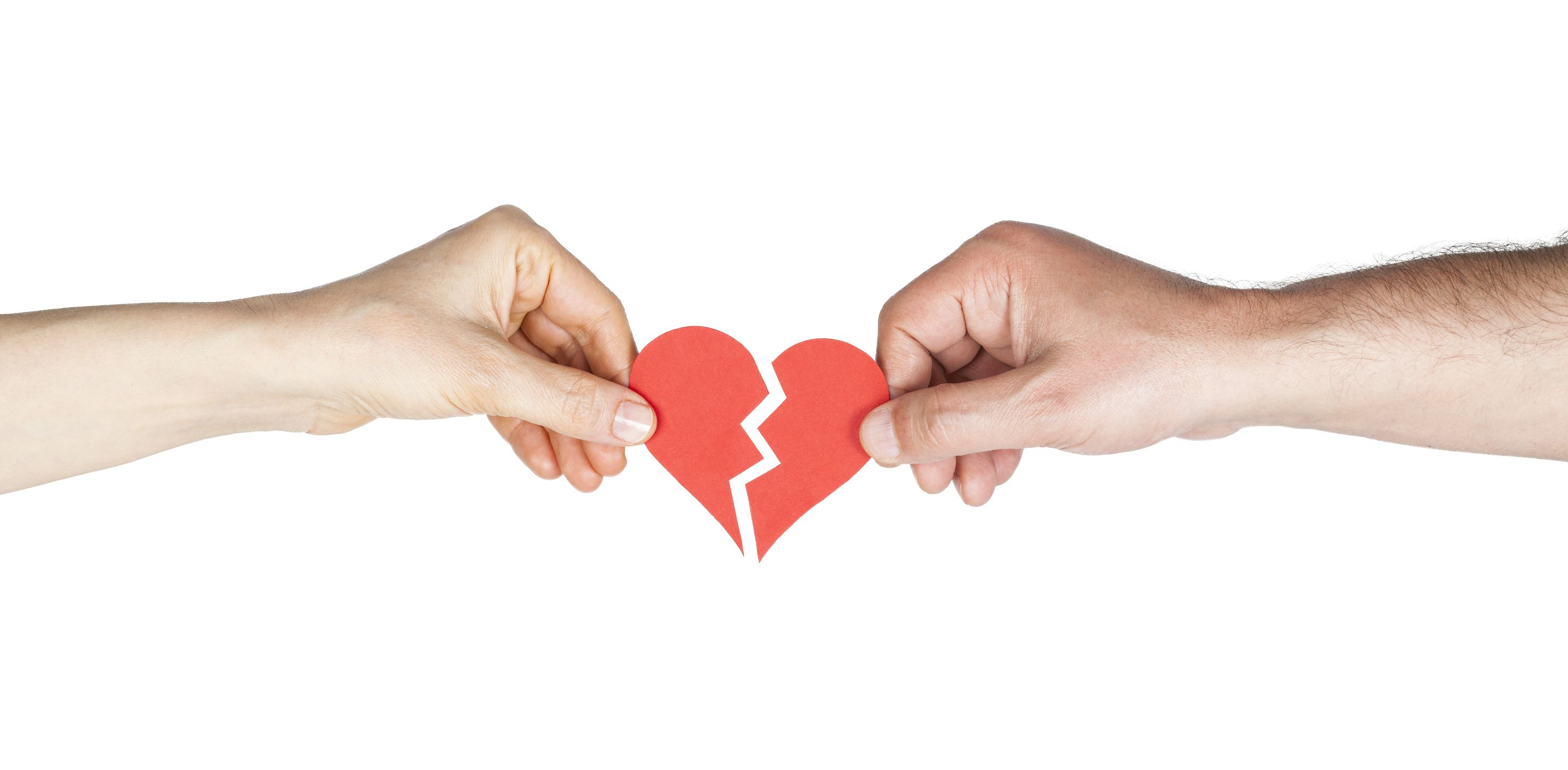18019954 - man and woman hands holding broken heart